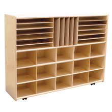 """C14009F-C5 Multi-Storage without, 35½""""H, Assembled w/Casters"""