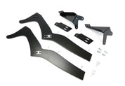 BMW E46 Sedan trunk profile, rear mount uprights and frame mounting system for wing/spoiler. Designed to make the trunk fully operational (full Upright Kit shown)