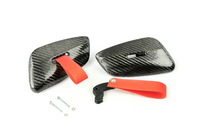 Carbon Fiber RS Door Latch Pull kit for BMW E9X. Sold in Pairs.