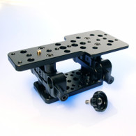 Left front view Sony FS700 baseplate.