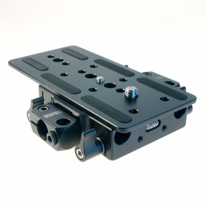 Front view Sony PMW-F5 PMW-F55 Baseplate w/accessory mount blocks