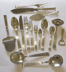 6 Person Vintage Danish Silver Plate Cutlery Set Regent By Victoria Set