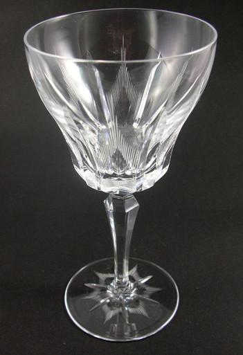 6 vintage villeroy boch parzival crystal wine glasses at for Villeroy boch crystal