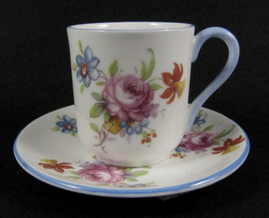 Miniature Shelley Cup and Saucer Pink Rose & Floral