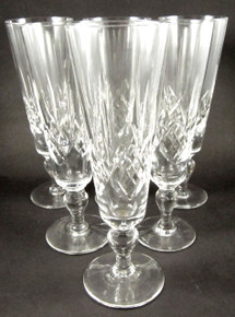 6 Rare Stuart Crystal Glengarry champagne Flutes
