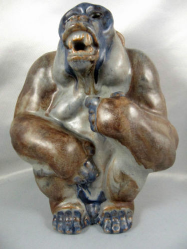 Danish art pottery arne ingdam gorilla figurine in stock - Gorilla figurines ...