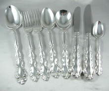 44 Piece Vintage Oneida Community Silver Plate 6 Person Mansion House Cutlery Set In Canteen