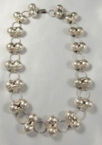 Art Deco Vintage Mexican Sterling Silver Spratling Cocos Design necklace pre 1948