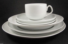 Vintage Danish Bing & Grondahl Henning Koppel White Hvid Koppel dinner setting for 1
