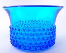 1950's Nuutajarjarvi Notsjo Finnish Art Glass Bowl In Aqua by Saara Hopea