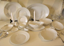 1940's Danish Bing & Grondahl Cream Elegance dinner set