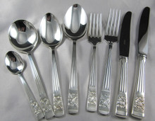 Vintage Rodd Berkeley Silver Plate Cutlery Set for 6