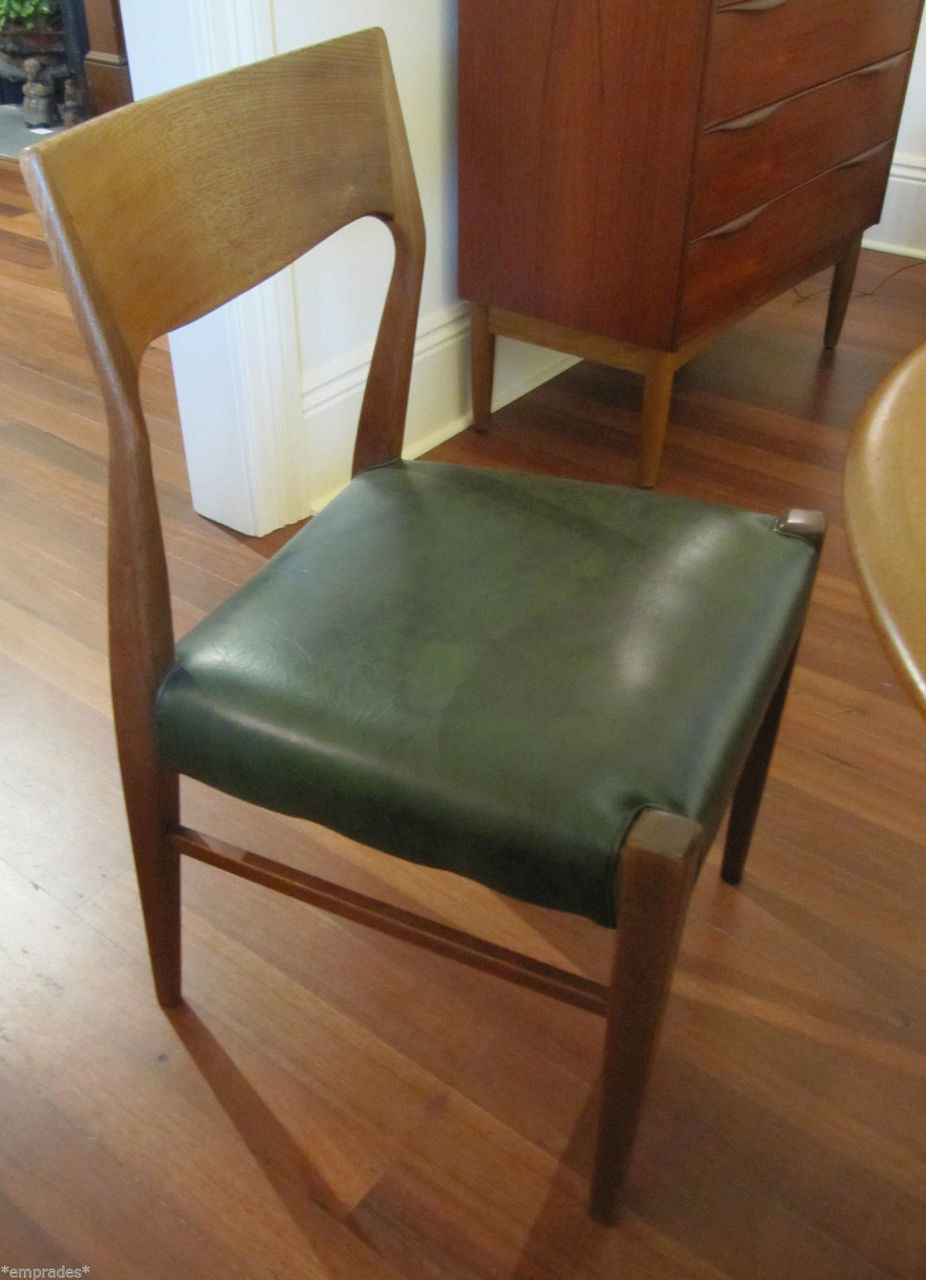 6 mid century australian t h brown dining chairs in stock for Modern dining chairs australia