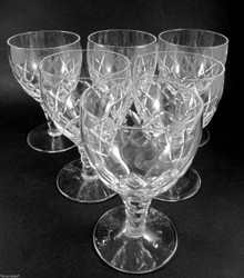 6 Vintage Stuart Crystal Beau 120ml Claret Wine Glasses