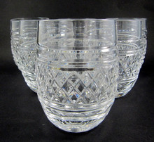 6 Vintage Waterford Castletown Crystal whisky tumblers