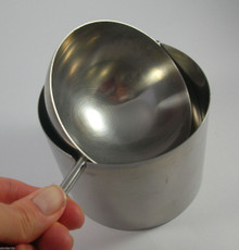 Vintage Danish Stelton Stainless Steel Cylinda-Line Large Revolving Ashtray