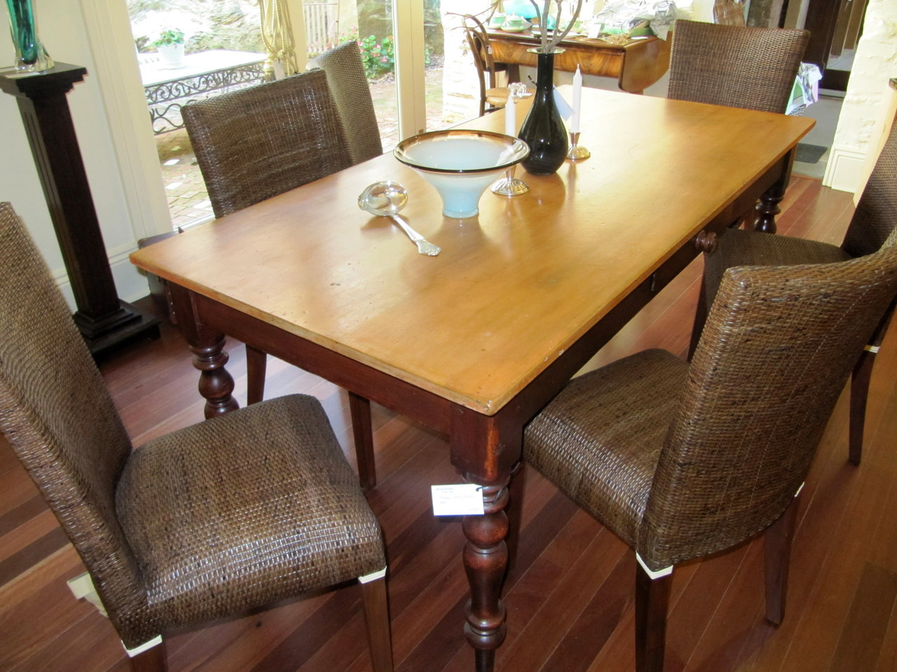 Antique Australian Kauri Pine top turned leg dining table  : IMG183999829140998187212801280 from emprades.com.au size 1280 x 960 jpeg 278kB
