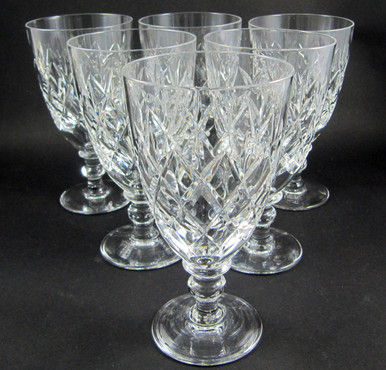 6 Vintage Webb Corbett Crystal Rolleston 175ml wine glasses