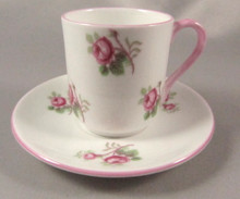 Miniature Shelley Cup and Saucer Pink Roses