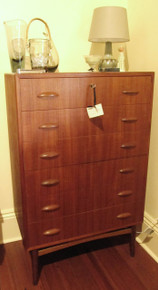 Vintage Danish Modern teak chest of drawers