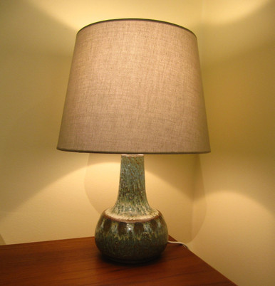 Vintage danish soholm pottery table lamp buy online danish soholm pottery lamp base mozeypictures Images