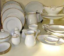 1930's 6 person Vintage Danish Bing & Grondahl Hartmann dinner set (Extra 6 place settings available)