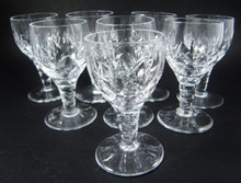 8 Vintage Stuart Crystal Carlingford liqueur Glasses