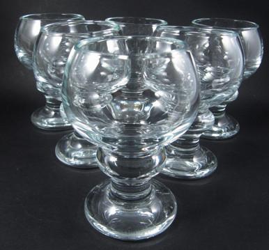 6 Vintage Holmegaard Tivoli cognac glasses Per Lutkin 1968
