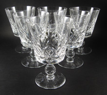 6 Vintage 200ml Stuart Crystal Glengarry Cambridge wine glasses