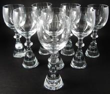 8 Vintage Holmegaard Prince Port Wine Glasses Bent Severin 1960's