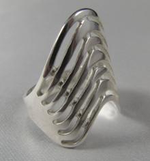 Vintage Jaana Toppila Finland Sterling Silver Modernist Ring