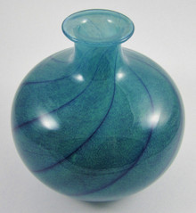 Vintage Art Glass Vase by Willy Johansson for Hadeland