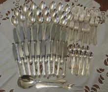 Vintage Danish Cohr silver plate cutlery flatware set Ambrosius 10 person