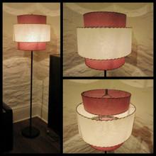 Vintage 1940's-50's Standard / Floor Lamp with Atomic Fiberglass Shade