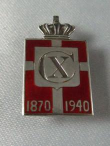 1940 Georg Jensen Sterling Silver King Christian X Kingmark Pin Stud Arno Malinowsky