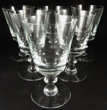 6 Vintage Holmegaard Wellington 13.5cm red wine glasses 1978