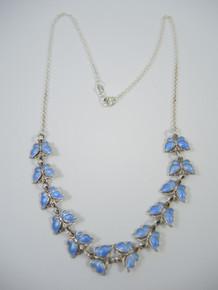 Vintage Danish Sterling Silver Enamel Butterfly Necklace Volmer Bahner