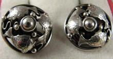 Art Nouveau Danish 830S Silver Fish Cufflinks Lauritz Jensen Denmark.
