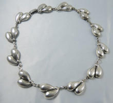 Vintage Sterling Silver Danecraft Sycamore link necklace