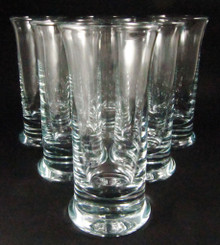 6 Vintage Holmegaard No 5 Beer Wine Glasses Per Lutkin 1970