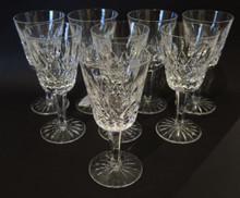 8 Vintage Waterford Crystal Lismore White Wine Glasses