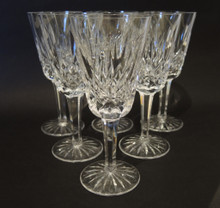 6 Vintage Waterford Crystal Lismore Port Wine Sweet Sticky Sherry Glasses