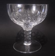 Six Vintage Stuart Crystal Carlingford Champagne Saucers Glasses