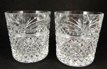 Boxed pair of Stuart Crystal Sherbourne whisky tumblers or rummers