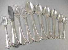 Vintage 70pce Danish 6 Person Silver Plate Cutlery set Anne Marie by Frigast