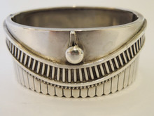 Antique Australian Sterling Cuff Bangle Bracelet c1880.