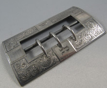 Antique Australian Sterling Silver Belt Buckle c 1860