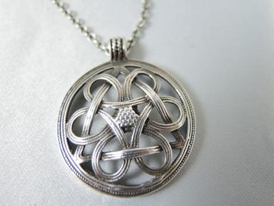 Vintage Sterling Silver Knot of Fate Pendant Finland Kalevala Koru 1984