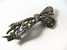 Art Deco Australian Sterling Silver Lega Bow Brooch