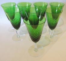 8 Vintage Holmegaard Ravnsborg White Wine Glasses